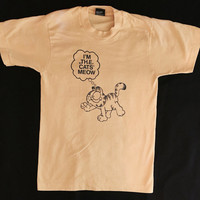 Vintage Tee, Garfield, Small, 50/50 blend