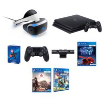 Sony PS4 Super Bundle VR Kit+PS4 Pro+2 Move Motion+PS Camera+Extra DS Cont.+3 VR Games