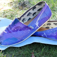Galaxy TOMS Hand painted by GalaxyCakes on Etsy