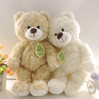 (1 piece) 30cm Small Cute Teddy Bears Stuffed Animals Soft Plush Toys White Beige Brown Hold Bears Bow/Necklace Random Delivery