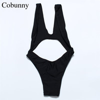 COBUNNY 2016 Back Swimwear One Piece Suits Swimsuit Strappy Backless Cut Out Monokinis Brazilian Bathing Suit 616