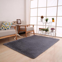 Fluffy Rugs Anti-Skid Shaggy Area Rug Dining Room Home Bedroom Carpet Floor Mat For Parlor Living Room Bedroom Home Supplies