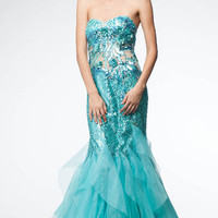 KC14510 Blue Mermaid Prom or Homecoming Dress by Kari Chang Couture