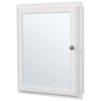 Glacier Bay 21 in. x 25 in. Recessed or Surface Mount Medicine Cabinet in White-S2126-WH-R at The Home Depot