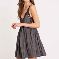 Free People Breathless Halterneck Dress in Blue - Urban Outfitters