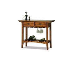Leick Furniture 9061-RS Russet Mission Wine Stand