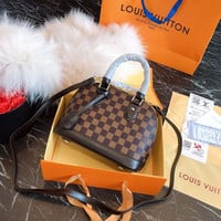 Louis Vuitton LV Damier Ebene Top Handles ALMA BB