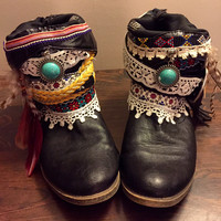 """The """"Serena"""" - Custom Upcycled Leather Cowboy Boots"""