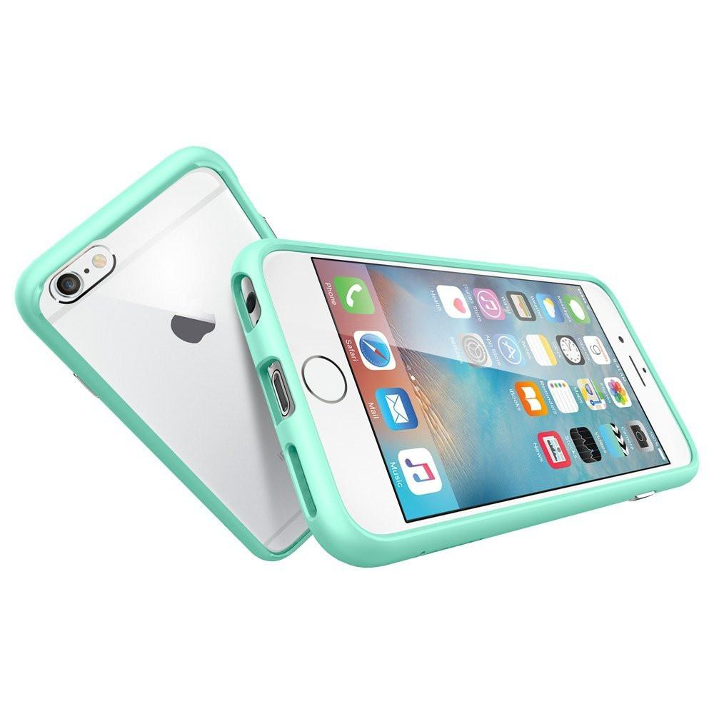 Image of The Bright Mint and Crystal Clear Ultra Hybrid Bumper iPhone 6/6s Case