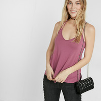 Express One Eleven Strappy Back V-Neck Cami