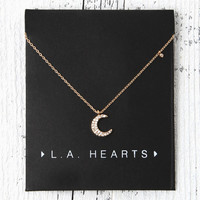 LA Hearts Starry Night Crescent Necklace at PacSun.com