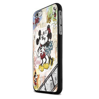 Mickey and Minnie Mouse Kissing Vintage iPhone 6 Plus Case