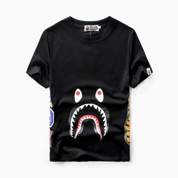 Men's Fashion Peep Toe Print Couple Casual Short Sleeve T-shirts [10141569479]