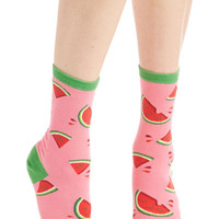 Fruits These Fruits are Made for Walkin' Socks in Melon by ModCloth