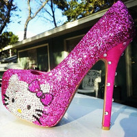 Hello Kitty Almond Toe Pump by HocCouture on Etsy