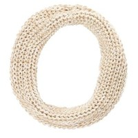 Chunky Knit Metallic Infinity Scarf by Charlotte Russe
