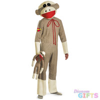 Sock Monkey Adult 42-46 Costume