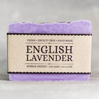 English Lavender Soap - Limited Edition, All Natural Handmade Vegan Soap, Fragrant Soap. Palm Oil Free.