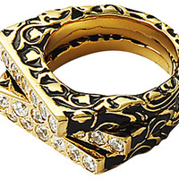 Florentine Stackable Rings Black, Set of 3, Stone & Novelty Rings
