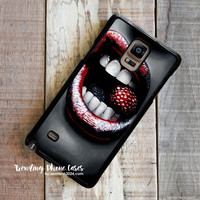 Raspberry Red Lip Fruit Samsung Galaxy Note 4 Case Cover for Note 3 Note 2 Case