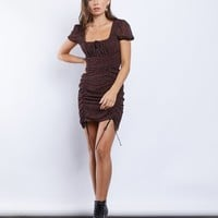 Bed of Roses Ruched Mini Dress