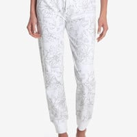 Disney Beauty And The Beast Allover Print Womens Joggers