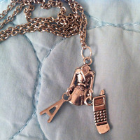 A - Red Coat - Pretty Little Liars Necklace