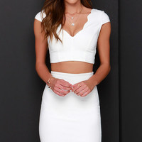Clear-Eyed Ivory Two-Piece Dress