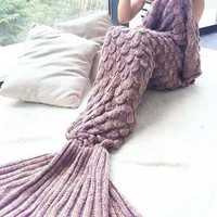 Fish Scale Mermaid Party to Be Adored Blanket Autumn&Winter Gift