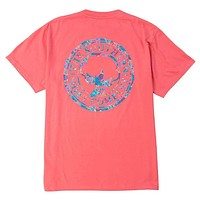 Floral Logo Tee Shirt in Sugar Coral by The Southern Shirt Co.