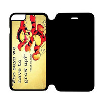Grow Up Qoute iPhone 6S Flip Case Cover