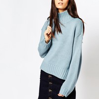 ASOS Boxy Jumper with Chunky High Neck