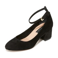 Vassie Block Heel Pumps