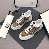 Gucci 2021Men Fashion Boots fashionable Casual leather Breathable Sneakers Running Shoes08150gh
