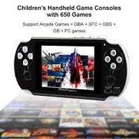 "Portable 64 Bit Handheld Game Console, Upgraded 4.3"" 653 Classic Portable Game Console PAP II"