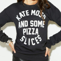 The Reformation :: New :: KATE MOSS PIZZA SWEATSHIRT