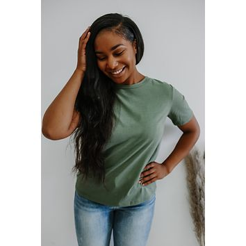 Basic As Can Be Tee - Olive