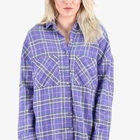 Colorful Lumberjack Flannel {Purple Mix} 1XL & 2XL
