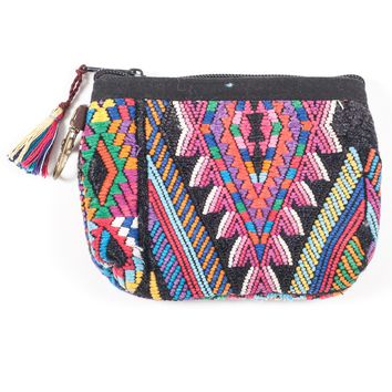 Upcycled Huipil Coin Purse (Guatemala) - Style 5