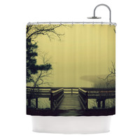 """Robin Dickinson """"Fog on the River"""" Shower Curtain, 69"""" x 70"""" - Outlet Item"""