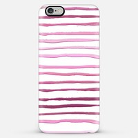 pink stripes iPhone 6 Plus case by Sylvia Cook | Casetify