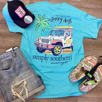 *Simply Southern Tee- Blue Sunny Days Jeep