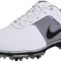 Nike Golf Men's Nike Lunar Control Golf Shoe,White/Black/Metallic Pewter,9.5 M US