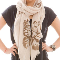 Online Exclusive- Butterfly Print Scarf