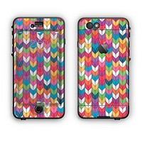 The Color Knitted Apple iPhone 6 Plus LifeProof Nuud Case Skin Set