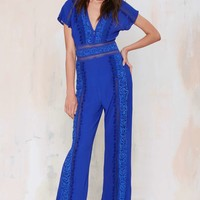 The Jetset Diaries Sao Paulo Crochet Jumpsuit