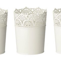 Set of 3 NEW IKEA Skurar Plant Pot  Off-white