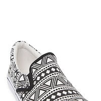 Black Poppy Canvas Slip On Shoes at PacSun.com
