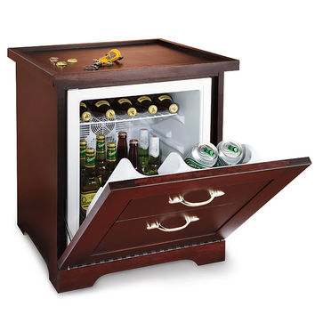 Man Table Mini Refrigerator End Table at Brookstone—Buy Now!