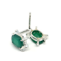Green Onyx and Sterling Silver Earrings, Green Onyx Turtle Earrings, Green Gemstone Earrings, Green Onyx Jewelry, Green Turtle Earrings